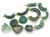 Afghan Ancient Roman Glass Beads (AF1986)