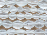 Clear Bicone Recycled Glass Beads 14-25mm - Indonesia (RG695)