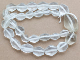 Clear Bicone Recycled Glass Beads 15-38mm - Indonesia (RG701)