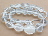 Clear Bicone Recycled Glass Beads 15-37mm - Indonesia (RG702)