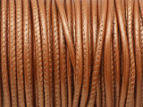 "Metallic Copper Stitched Leather Cord 2.5mm - 36"" (LR150)"