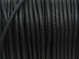 "Black Stitched Leather Cord 2.5mm - 36"" (LR151)"