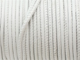 "White Stitched Leather Cord 2.5mm - 36"" (LR152)"
