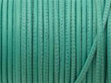 "Turquoise Stitched Leather Cord 2.5mm - 36"" (LR153)"