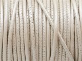 "Metallic Pearl Stitched Leather Cord 2.5mm - 36"" (LR155)"
