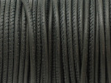 "Dark Gray Stitched Leather Cord 2.5mm - 36"" (LR157)"