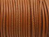 "Tan Brown Stitched Leather Cord 2.5mm - 36"" (LR158)"