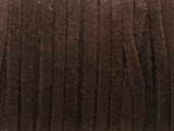 "Dark Brown Suede Leather Lace 3mm - 36"" (LR161)"