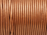 "Metallic Copper Leather Cord 2mm - 36"" (LR170)"