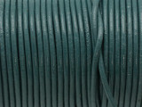 "Teal Green Leather Cord 2mm - 36"" (LR172)"