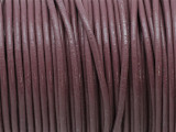 "Mauve Leather Cord 2mm - 36"" (LR178)"