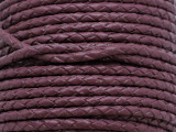 "Mauve Braided Leather Cord 3.5mm - 36"" (LR181)"