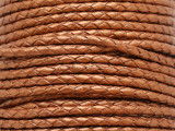 "Metallic Copper Braided Leather Cord 3.5mm - 36"" (LR185)"