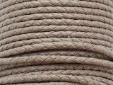 "Warm Gray Braided Leather Cord 3.5mm - 36"" (LR186)"
