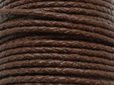 "Brown Braided Leather Cord 3.5mm - 36"" (LR187)"