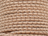 "Natural Tan Braided Leather Cord 3.5mm - 36"" (LR188)"