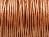 "Metallic Copper Leather Cord 1mm - 36"" (LR193)"