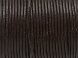 "Dark Brown Leather Cord 1mm - 36"" (LR197)"