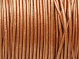 "Metallic Copper Leather Cord 0.75mm - 36"" (LR200)"