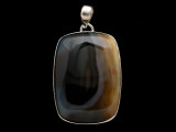 Sterling Silver & Montana Agate Pendant 43mm (AP2193)