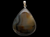 Sterling Silver & Montana Agate Pendant 55mm (AP2194)