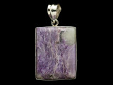 Sterling Silver & Charoite Pendant 37mm (AP2197)