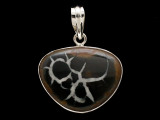 Sterling Silver & Septarian Pendant 31mm (AP2209)