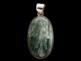 Sterling Silver & Seraphinite Pendant 40mm (AP2212)