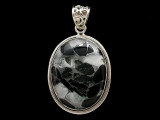 Sterling Silver & Tourmaline Quartz Pendant 38mm (AP2214)
