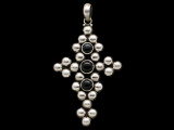 Sterling Silver & Onyx Cross Pendant 61mm (AP2230)