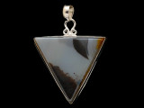 Sterling Silver & Montana Agate Pendant 42mm (AP2233)