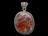 Sterling Silver & Red Canyon Jasper Pendant 31mm (AP2236)