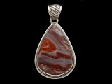 Sterling Silver & Red Canyon Jasper Pendant 36mm (AP2237)
