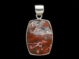 Sterling Silver & Red Canyon Jasper Pendant 31mm (AP2238)