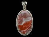 Sterling Silver & Red Canyon Jasper Pendant 43mm (AP2243)