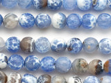 Light Blue Fire Agate Faceted Round Gemstone Beads 10mm (GS5104)