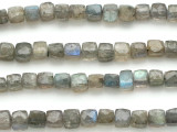 Labradorite Irregular Cube Gemstone Beads 4-5mm (GS5107)