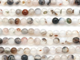 Montana Agate Faceted Round Gemstone Beads 5mm (GS5123)