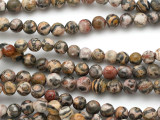 Leopardskin Jasper Round Gemstone Beads 6mm (GS5129)