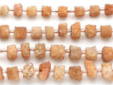 Copper Electroplated Solar Quartz Stalactite Gemstone Beads 8-14mm (GS5141)
