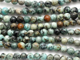 "African ""Turquoise"" Jasper Irregular Round Gemstone Beads 6mm (GS5149)"