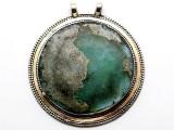 Afghan Silver & Ancient Roman Glass Pendant 80mm (AF935)