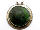 Afghan Silver & Ancient Roman Glass Pendant 68mm (AF1005)