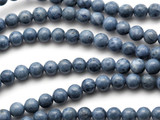 Blue Coral Round Beads 5-6mm (CO573)