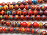 Multi-Color Resin Round Beads 8mm (RES633)