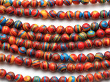 Multi-Color Resin Round Beads 6mm (RES634)