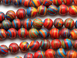Multi-Color Resin Round Beads 10mm (RES635)