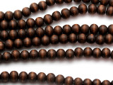 Dark Brown Round Wood Beads 8mm (WD989)