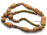 Mixed Javanese Glass Beads 10-40mm (JV1345)