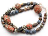Mixed Javanese Glass Beads 10-32mm (JV1346)